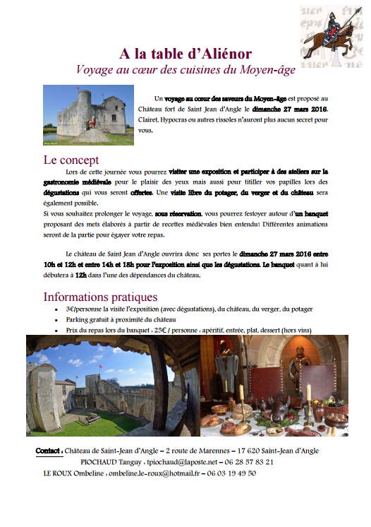 Liste des animations m di vales organis es en france - La table saint jean provins ...