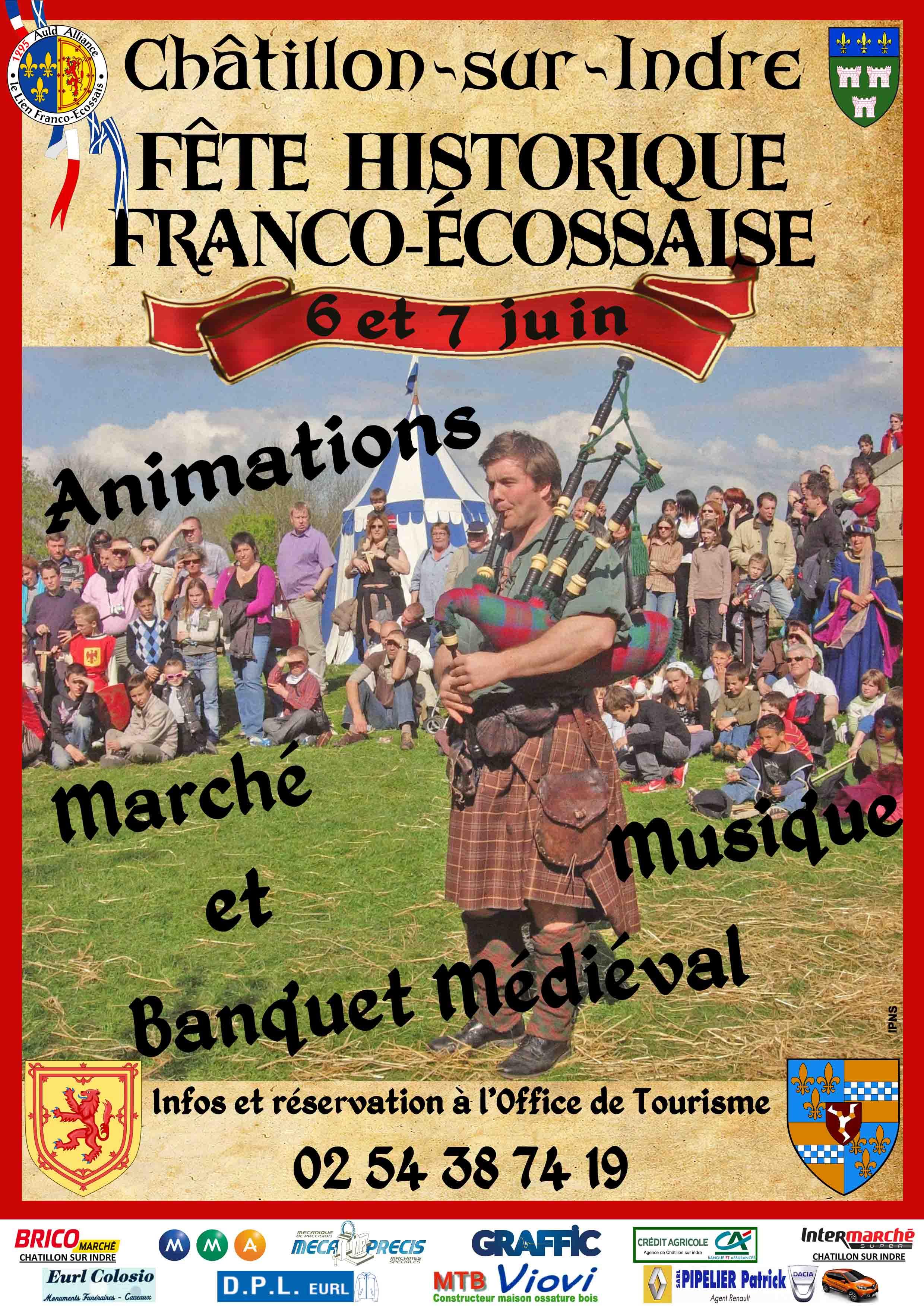 F te historique franco ecossaise ch tillon sur indre sur - Office de tourisme chatillon sur indre ...
