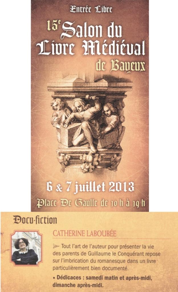 Salon du livre m di val de bayeux sur le portail m di val for Salon medieval